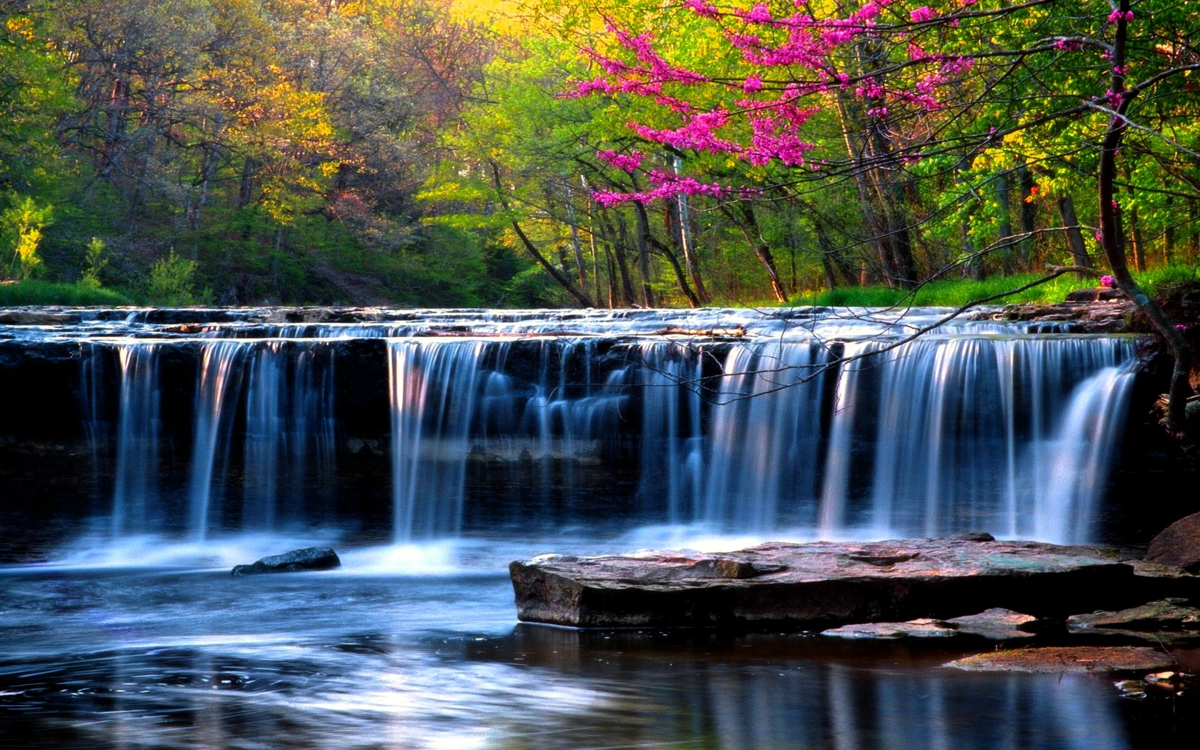 waterfalls-nature-spring-falls-forest-wallpaper-jungle-waterfall